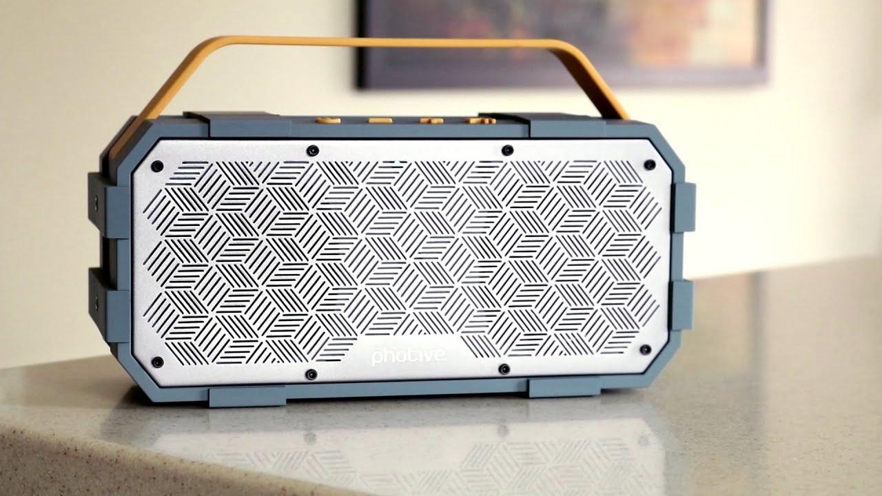 Photive M90 Bluetooth Speaker Review - YouTube