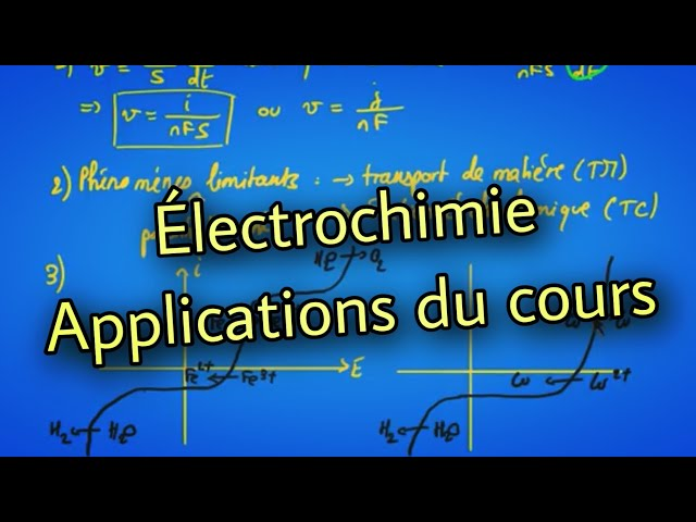 Électrochimie : applications du cours