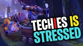 Techies is STRESSED - DotA 2 Funny Moments