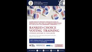 Rank Choice Voting Training