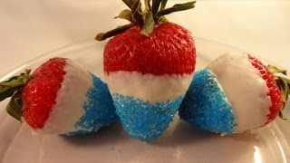 Easy Fourth Of July Strawberries - With Yoyomax12