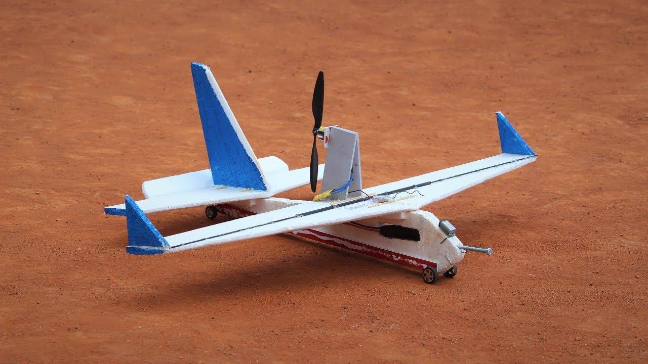 How to make a pusher RC airplane - airplane how to make aeroplane