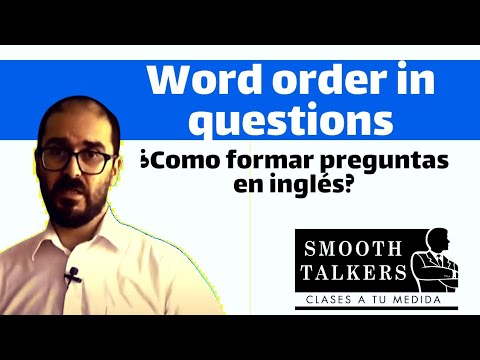 Word order in questions- Pre intermediate level