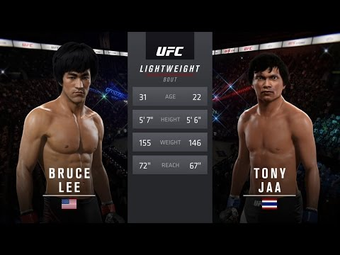 Bruce Lee Vs Tony Jaa EA Sports UFC 2