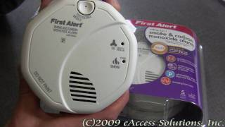 First Alert's Talking Smoke and Carbon Monoxide Alarm explanation and un-boxing video