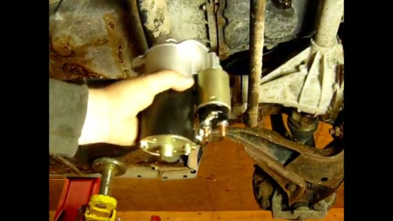 How to replace starter in a Ford explorer - YouTube