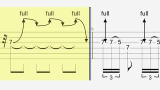 レッド・ツェッペリン ハートブレイカー フリーギターソロ部タブ譜 Led ...