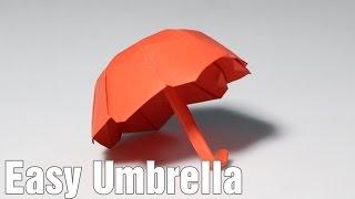 Origami Umbrella 3.0 (one sheet) tutorial - DIY (Henry Phạm)