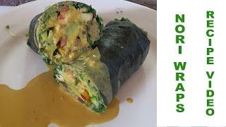 "How To Make Nori Wraps ""sushi Burrito Salad Rolls"" Vegan Recipe"