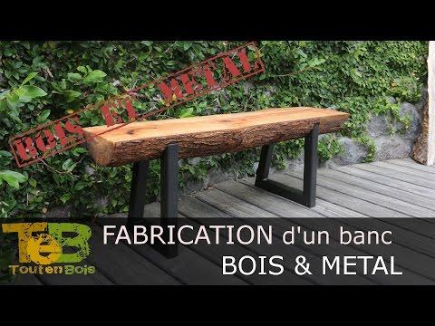 Bricolage Rapide Comment Fabriquer Un Banc En Bois Et Métal How