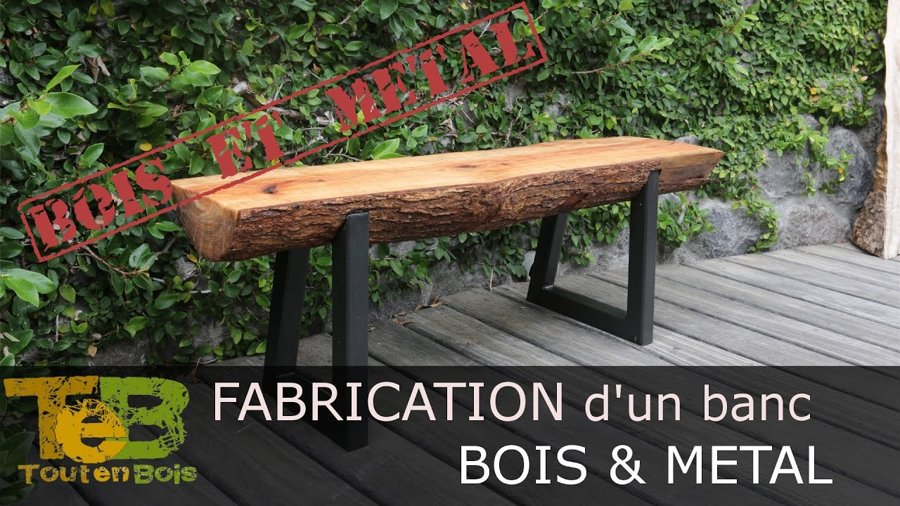 bricolage rapide comment fabriquer un banc en bois et m tal how to make a wood and metal. Black Bedroom Furniture Sets. Home Design Ideas
