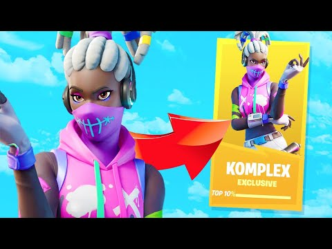 How I UNLOCKED The KOMPLEX Skin On A 180+ Ping TOURNAMENT (Fortnite Battle Royale)