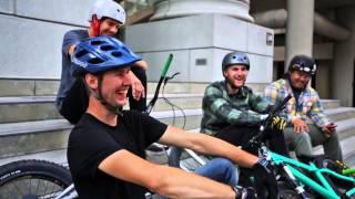 Паркур на велосипедах. Вело триал.(Группа молодых ребят из Сан-Франциско решила прокатиться на своих велосипедах по улицам города. Видимо,..., 2014-03-30T09:55:29.000Z)