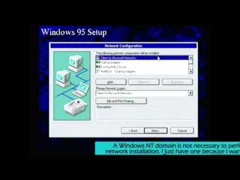 Installing Windows 95 Using A Network Client Startup Disk