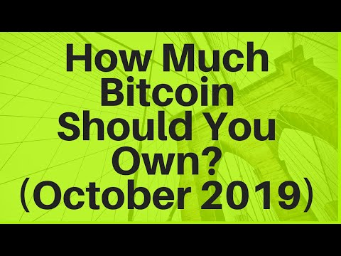 How Much Bitcoin Should You Own? (October 2019)