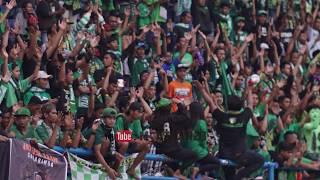 LUAR BIASA !! SAMBUTAN PUSAMANIA UNTUK BONEK MANIA . BORNEO FC VS PERSEBAYA SURABAYA