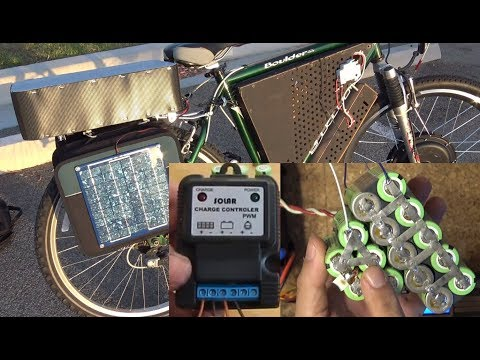 DIY Ebike S01E07: Home made Solar Powered 12V accessory Li-ion battery pack