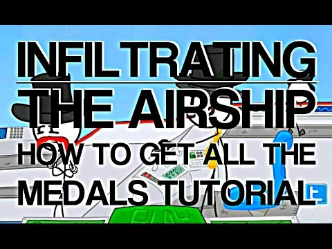 Infiltrating The Airship How To Get All The Medals In The Game Youtube
