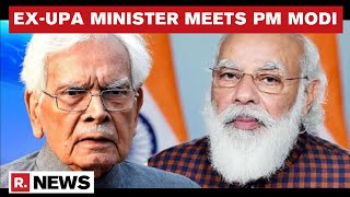 Fmr EAM From Manmohan Singh's Cabinet Natwar Singh Meets PM Modi At His Residence