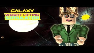 Oh, oh, yes in SPACE!! | Galaxy Lifting Simulator | Roblox