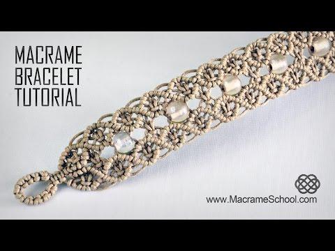 Macramé Double Wave Bracelet   Beautiful Blue Danube by Strauss