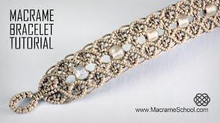 Macramé Double Wave Bracelet | Beautiful Blue Danube by Strauss