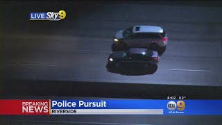 Car With No Plates Leads Police On High-Speed Chase; Two in Custody