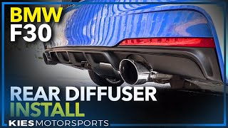 How to install a BMW F30 M Performance Style Rear Diffuser! (2013 BMW 335i xDrive)