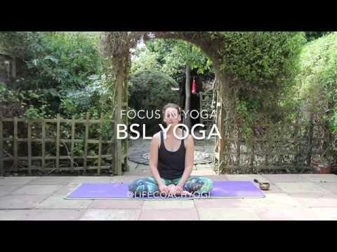 Focusing breath in yoga practice