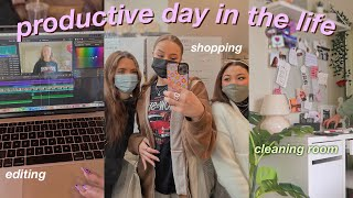 PRODUCTIVE DAY IN THE LIFE | coffee shops, cleaning, shopping, & downtown day 🧸 vlog