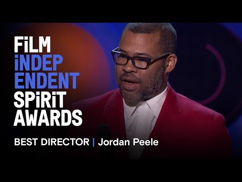 JORDAN PEELE wins Best Director for GET OUT at the 2018 Film Independent Spirit Awards