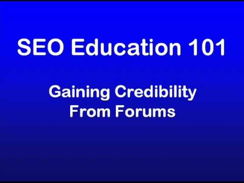 SEO Education 101 - Forums