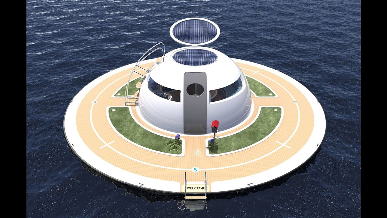 Crazy floating home jet capsule ufo unidentified for Circle fishing boat