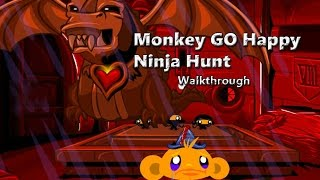 Monkey GO Happy Ninja Hunt - Walkthrough