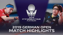 Timo Boll vs Jun Mizutani | 2019 ITTF German Open Highlights (R16)