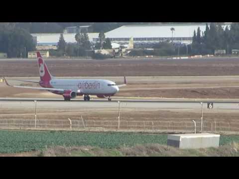 A flight taking off at Ben Gurion Airport, TLV Israel