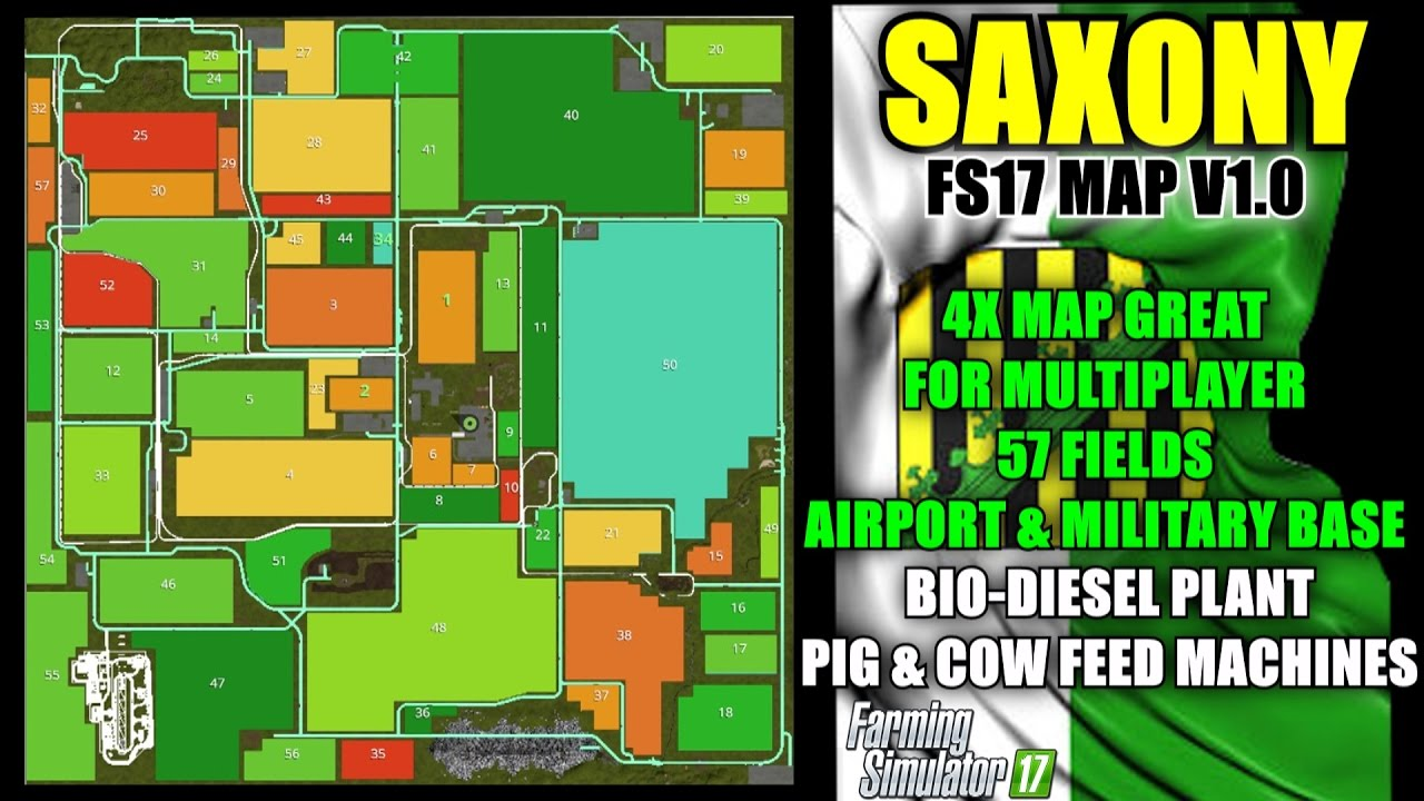 Farming simulator 17 - Saxony Map For FS17 v1 2 0 (Updated)