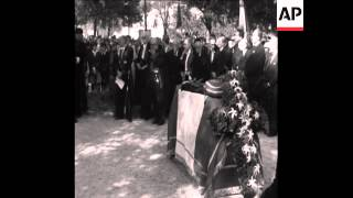 CAN 010 FUNERAL OF ARTIST JEAN COCTEAU HELD IN HIS HOME TOWN