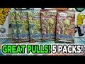 Opening Another 5 Pokemon Steam Siege Booster Packs!! (GREAT PULLS)