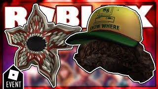 LEAKS ROBLOX STRANGER THING EVENT PRIZES | NEW ROBLOX EVENT 2019