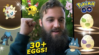 4 RIOLU IN A ROW! (Hatching 2km + 10km Eggs) - Pokemon Go Easter Event 2020