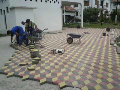 postavljanje opločnika na betonsku podlogu