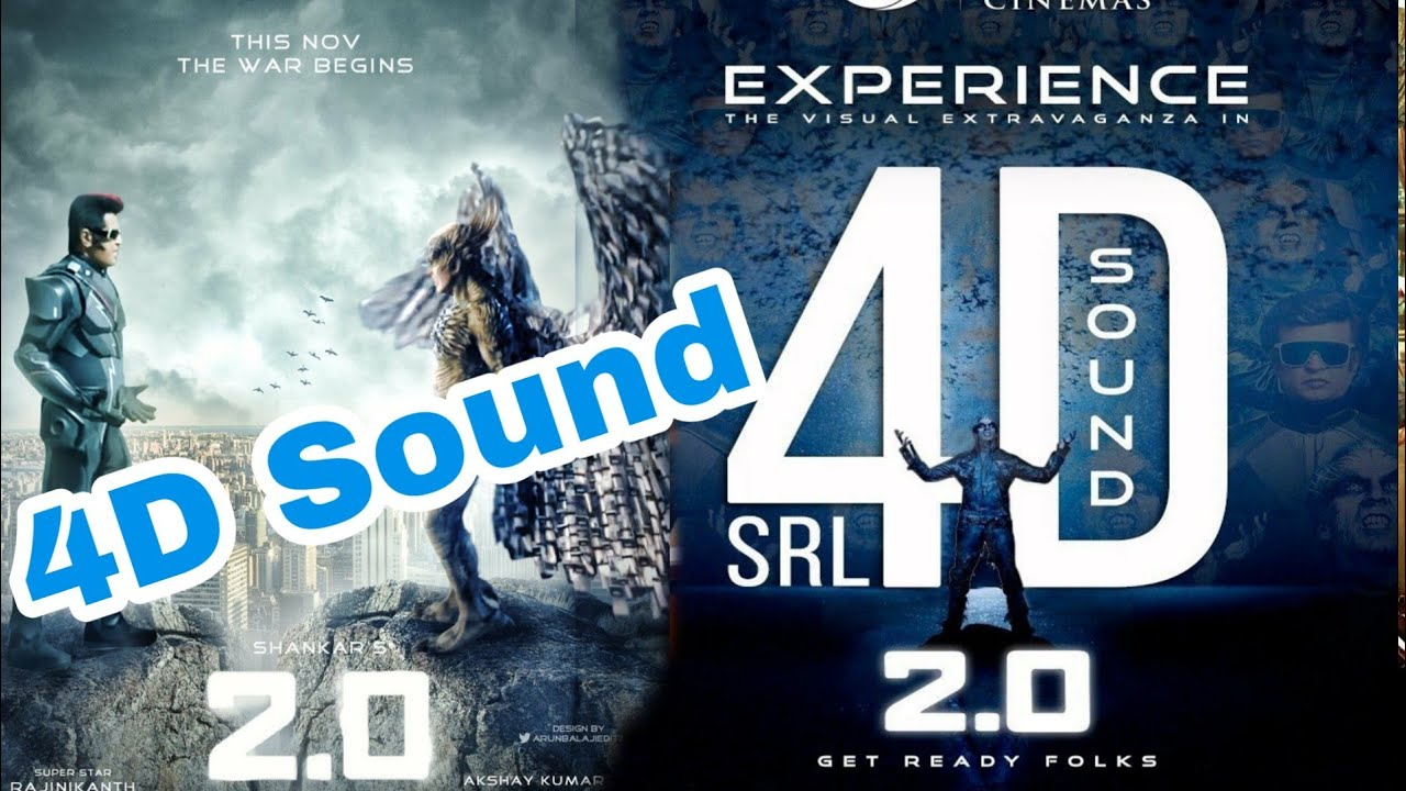 Robot 2 0 4D sound experience ,First time in India,Rajnikanth ,Akshay kumar  ,2point0,Robot 2 0,2 0
