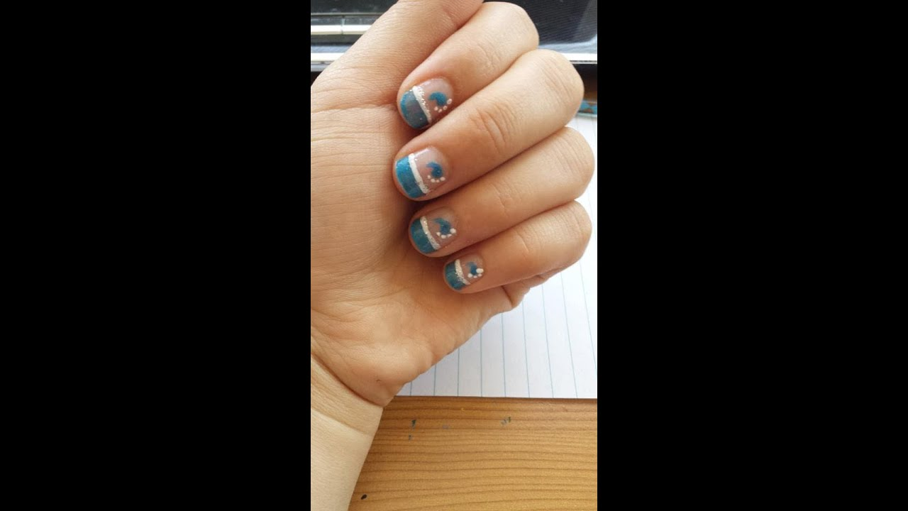 Its A Baby Boy Nail Art Youtube
