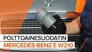 Polttoainesuodatin asennus itse opetusvideo MERCEDES-BENZ E-CLASS