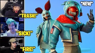 STREAMERS REACTS TO *NEW* Growler & FLAPJACKIE Skins! (Fortnite Funny & Daily Best Moments)