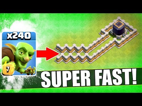 FASTEST WAY TO STEAL DARK ELIXIR EVER!? 🔥 Clash Of Clans 🔥 MAX GOBLIN OVERLOAD!