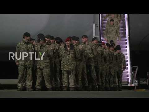 Estonia: First wave of UK troops arrive in Estonia for NATO deployment
