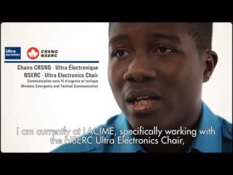 Bill Kiki-Sagbe, master's student in telecommunications networks