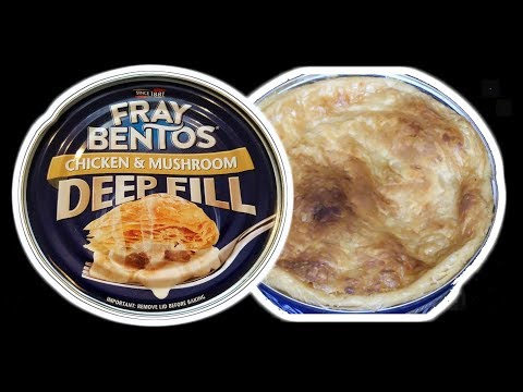 Fray Bentos Chicken & Mushroom Pot Pie IN A CAN!  WHAT ARE WE EATING?? - The Wolfe Pit